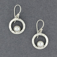 Round Frame Pearl Earrings