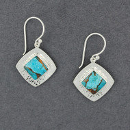 Reflection Turquoise and Bronze Earrings