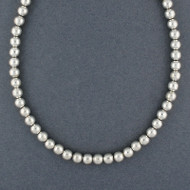 Sterling Silver 8mm Beaded Necklace