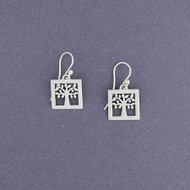 Square Tree of Life Earrings