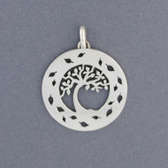 Tree of Life with Leaf Border Pendant