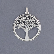 Tree of Life with Flowers Pendant