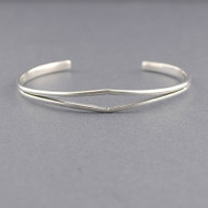 Sterling Silver Parting-Strand Cuff