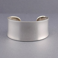 Sterling Silver Wide Concave Classic Cuff