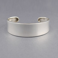 Sterling Silver Concave Classic Cuff