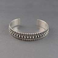 Sterling Silver Antique Detailed Cuff