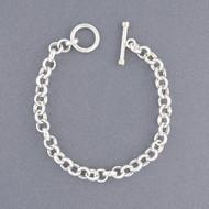 Sterling Silver Circle Link Bracelet