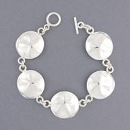 Sterling Silver Sand Dollar Link Bracelet