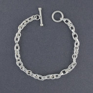 Sterling Silver Thin Double Link Bracelet