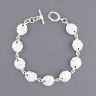Sterling Silver Small Sand Dollar Link Bracelet