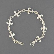 Sterling Silver Fleur-de-lis Link Bracelet