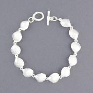 Sterling Silver Scallop Shell Link Bracelet