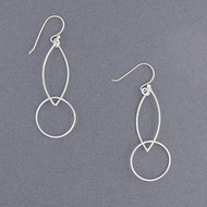 Sterling Silver Floating Circle Earrings