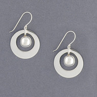 Sterling Silver Framed Full Sphere Earrings