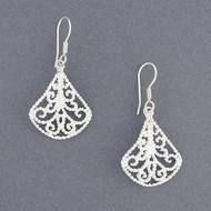 Sterling Silver Vintage Filagree Earrings