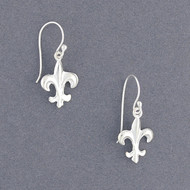 Sterling Silver Fleur-de-lis Earrings