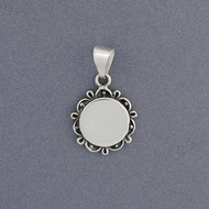 Sterling Silver Antique Circle Pendant