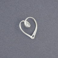 Sterling Silver Swirly Heart Pendant