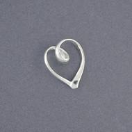 Sterling Silver Swirly Heart Pendant