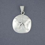 Sterling Silver Medium Sand Dollar Pendant