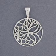 Sterling Silver Butterfly and Flower Pendant