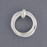 Sterling Silver Layered Circle Pendant