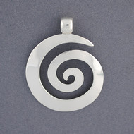 Sterling Silver Thick Spiral Pendant