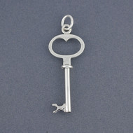 Sterling Silver Key Pendant