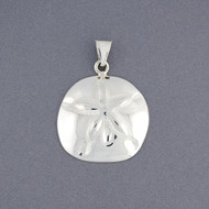 Sterling Silver Large Sand Dollar Pendant