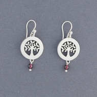 Round Tree of Life with Stone Earrings