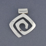 Sterling Silver Angled Sprial Pendant