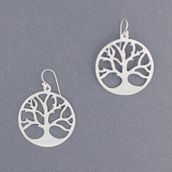Sterling Silver Tree Earring