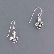 Sterling Silver Antique Fleur-de-lis Earring