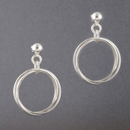 Sterling Silver Twisted Rings Earring