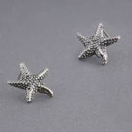 Sterling Silver Antique Starfish Studs