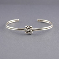Sterling Silver Love Knot Cuff