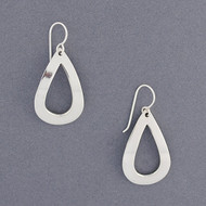 Sterling Silver Open Teardrop Earring
