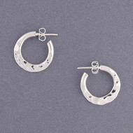 Sterling Silver Reversable Hoop