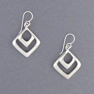 Sterling Silver Double Diamond Earring