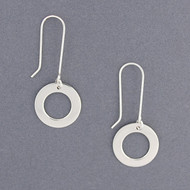 Sterling Silver Long Open Circle Earring