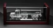 Large Crystal Tanker truck Encased Trophy 29AT