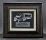 Truck Driver Plaque with wood Grain frame 29FRT-2 Front