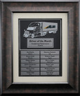 Truck Driver Plaque Employee of the Month Perpetual  29FRT-P