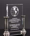 Crystal glass Pillar Award  26C