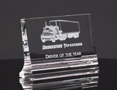 Crystal Glass Plaque Award  41AH