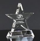 Crystal Glass Star Award Trophy  41B