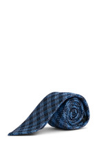 Angel Bold Weave Tie Navy/Blue