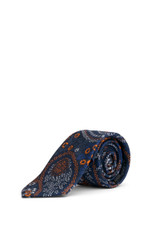 Sy Floral Paisley Tie Orange