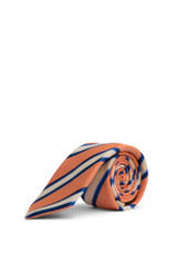 Bob Ribbon Stripe Tie Orange