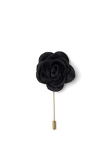 Bryce Silk Lapel Pin Black